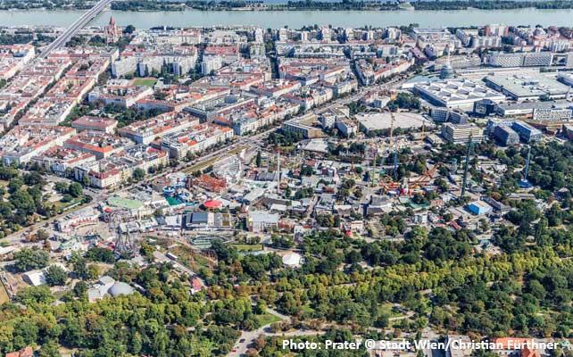 Pogled na Beč iz ptičje perspektive